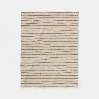 """Nature's Own"""" Wood_Ticking Fleece Blanket"""