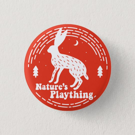 Nature's Plaything // Hare Pin (Red)