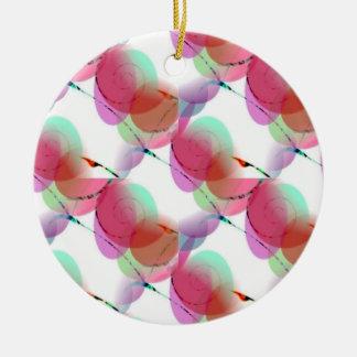 Nature's Spiral Design Round Ceramic Decoration