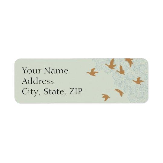 Natures Splendour Ecru Anniversary Return Address Return Address Label