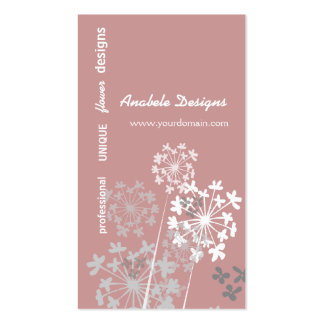 Nature's Spring Summer Gardens Flower Pack Of Standard Business Cards