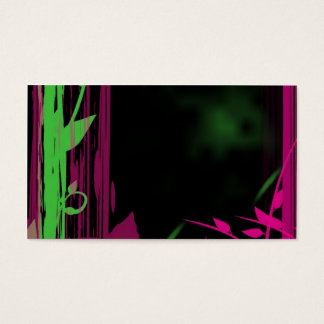 nature's style -- graphic bamboo & floral business card