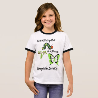 Natures Transformation Of A Butterfly Ringer T-Shirt
