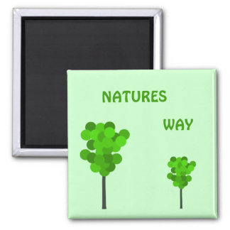 Natures Way Square Magnet
