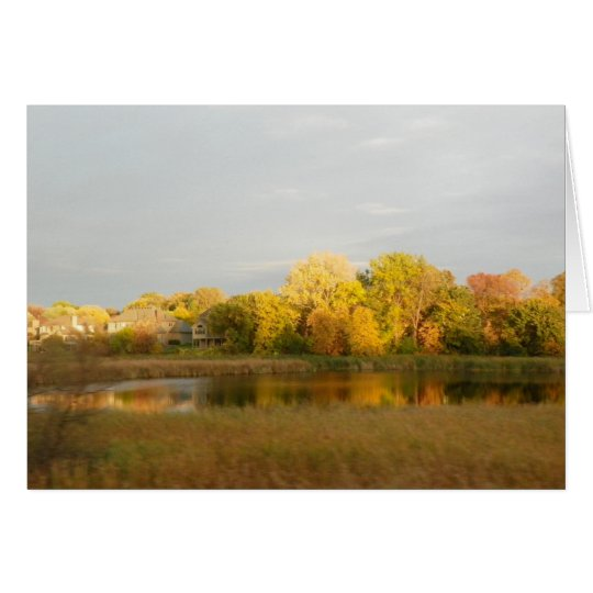 Nature's Widow Fall Colours  Greeting Card