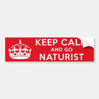 Naturist / Nudist Bumper Sticker