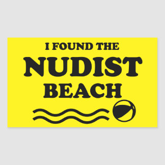 Naturist / Nudist Rectangular Sticker