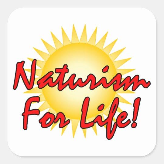 Naturist / Nudist Square Sticker