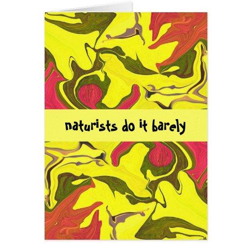 naturists funny card