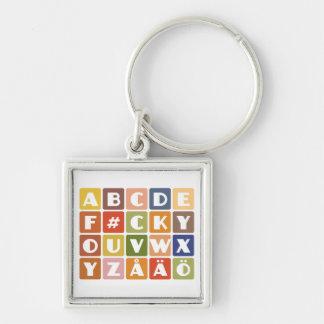 Naughty Alphabets key chain