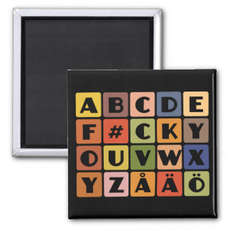 Naughty Alphabets magnet
