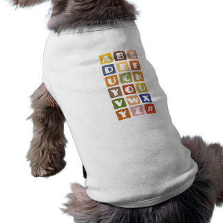 Naughty Alphabets pet clothing