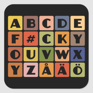 Naughty Alphabets stickers