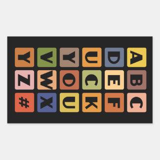 Naughty Alphabets stickers