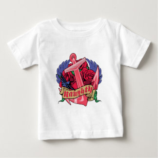 Naughty Anchor Roses and Wings Baby T-Shirt