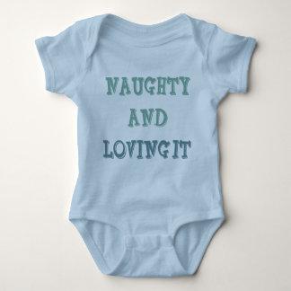 Naughty and loving it shirts