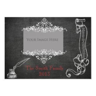 Naughty and Nice Chalkboard Christmas Card 13 Cm X 18 Cm Invitation Card