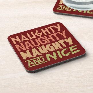 Naughty AND Nice custom coasters