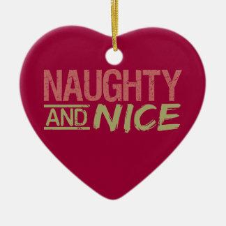 Naughty AND Nice custom ornament