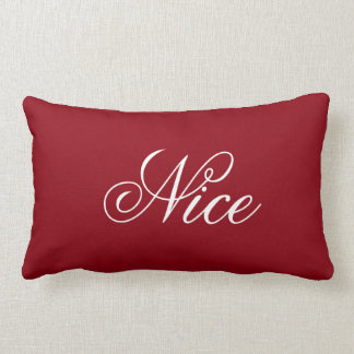 Naughty and Nice Decorative Holiday Pillow