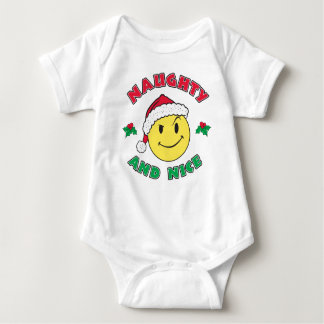Naughty and Nice - Happy Face Baby Bodysuit