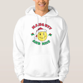 Naughty and Nice - Happy Face Hoodie