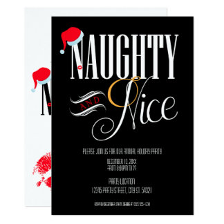 Naughty and Nice Holiday Party Invitations