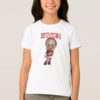 Naughty and Nice Ringer T-Shirt For Girls
