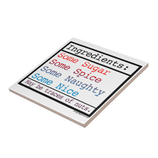 Naughty and Nice Small Square Tile