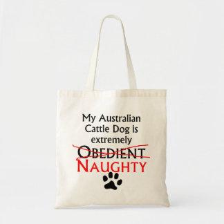 Naughty Australian Cattle Dog Canvas Bags