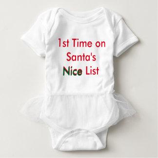 Naughty Baby: 1st Nice List Tutu Infant Onesie