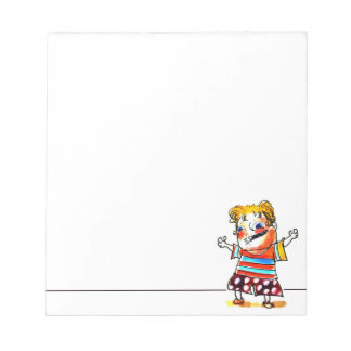 naughty boy cartoon style illustration notepad