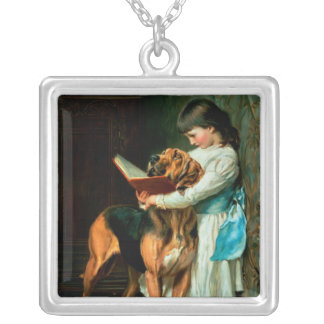 Naughty Boy or Compulsory Education Silver Plated Necklace