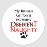 Naughty Brussels Griffon Stickers