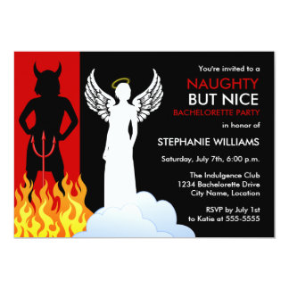 Naughty But Nice Bachelorette Party Invitation