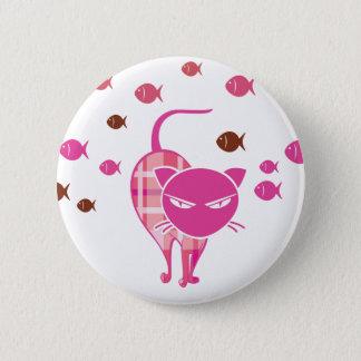 Naughty Cat 6 Cm Round Badge