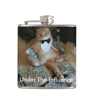 Naughty Cat Flask