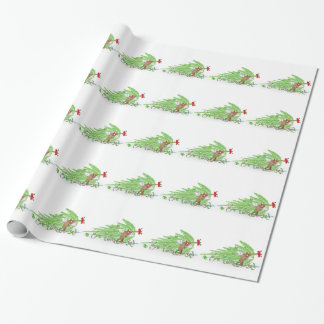 Naughty Cat Knocked Over Christmas Tree Wrapping Paper