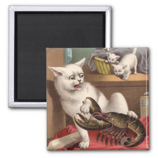 Naughty Cats - Lobster Surprise Magnet