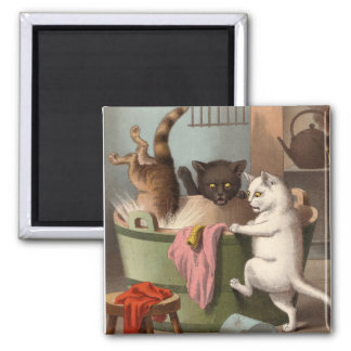 Naughty Cats - Washday Fridge Magnet