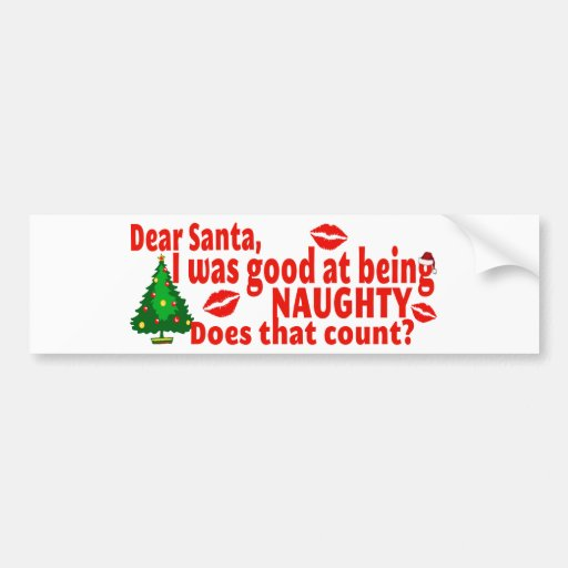 Naughty Christmas Bumper Stickers