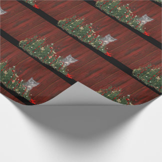 Naughty Christmas kitten Wrapping Paper