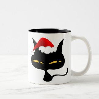 Naughty Christmas Kitty Mug