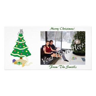 Naughty Christmas Tree Kitty Cat Card