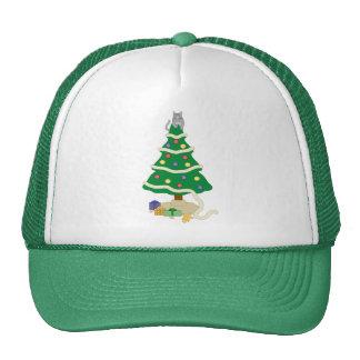 Naughty Christmas Tree Kitty Cat Hat