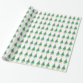 Naughty Christmas Tree Kitty Cat Wrapping Paper
