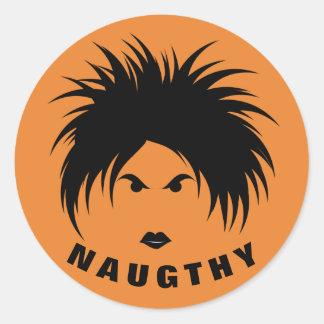 NAUGHTY Classic Round Sticker