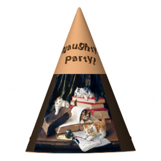 Naughty Cute Kittens  Cats Party Hat