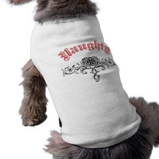 Naughty Dog tank top Sleeveless Dog Shirt