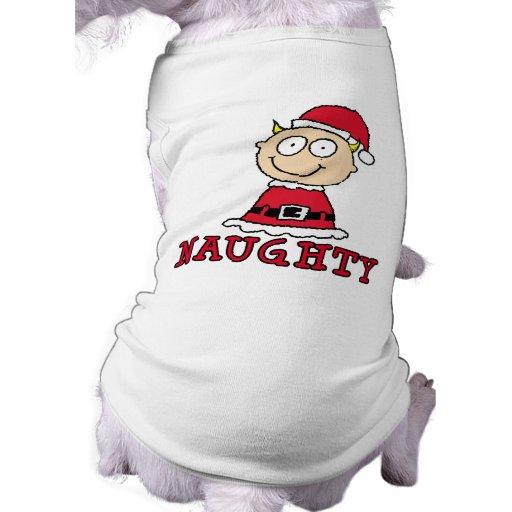 Naughty Elf Gift Pet T-shirt